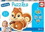 Educa - Baby Puzzles Animales. Set de 5 Puzzles Infantiles Progresivos de 3 a 5 piezas. A partir de 24 meses. Ref. 13473