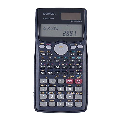 Aibecy wissenschaftlicher Taschenrechner, 401Funktionen, Matrizenrechnung Vektor-Gleichungen, Solar- und Batteriebetrieb, 2-zeiliges Display, für Büro, Schule, Uni
