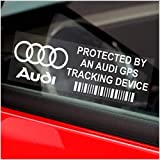 5 adesivi per finestrino 87 x 30 mm AUDI GPS Tracking Device Security -auto furgone R8,A4,TT,A8,A3,A5,S5,RS 4,RS 6,S4,A6