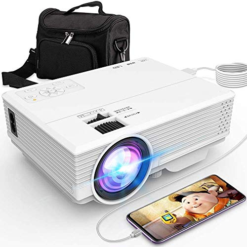 Mini Smart Projector P16 HD 1080P Supported, Home Theater Video Projector with 176'' Projector Size 55000 Hours, Compatible with TV Stick,HDMI,AV, USB,Laptop
