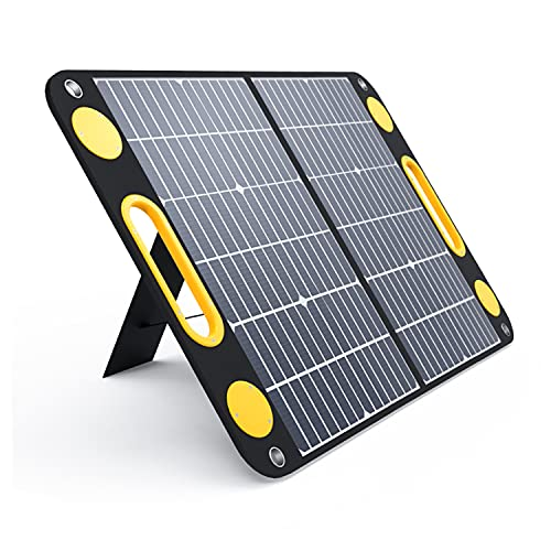 Togo Power 60W Portable Foldable Solar Panel with Dual USB & 18V DC Outputs Battery Charger for Baldr/Jackery/GoalZero/Paxcess Generator Power Station Phone Laptop Tablet GPS iPhone iPad Camera