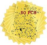 50pcs Trappole Adesive,Trappole Appiccicose,Plant Flycatcher,Adesivi Gialli,Trappola per M...
