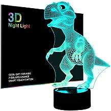 Salandens Luces nocturnas 3D para niños, lámpara de noche
