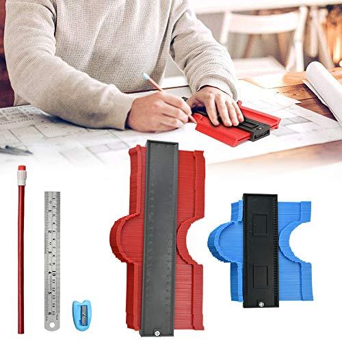 XAVSWRDE Medidor de contorno, medidor de contorno grande como calibrador de copia con profundidad extra, herramienta de calibrado de perfiles, duplicador de contorno, perfecto para baldosas, laminados