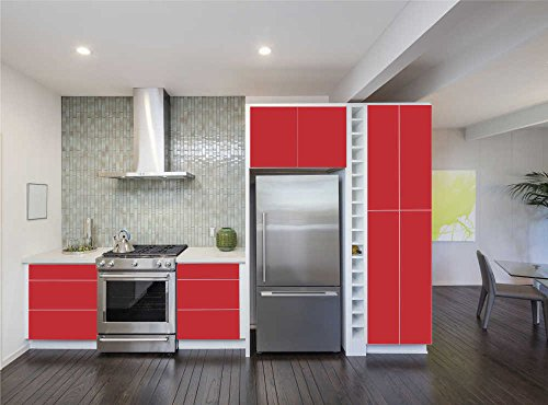 Orafol - Oracal 651 - 63cm Rolle - 5m (Laufmeter) - Rot, Glänzend Autofolie Möbelfolie - Selbstklebend, 064 - gg - 31cm - 631_1 - 5m_23 - 1 - Autofolie / Möbelfolie / Küchenfolie