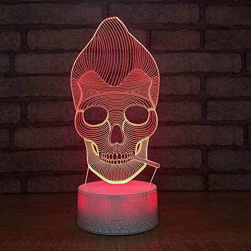 Veilleuse Enfants 3D Lampe Éclairage Lune Ville 3D LED Lampe 7 Changement de Couleur Atmosphère Vacances Famille Amis Cadeau Décoratif
