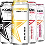 Rockstar Energy Drink, 4 Flavor Zero Sugar Variety Pack, 16oz Cans, (12 Pack) (Packaging May Vary)