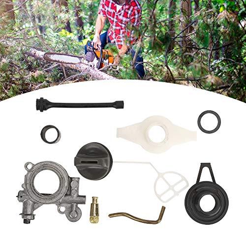 Niiyen Kit de Tambor de Embrague de Motosierra, Kit de Repuesto de Engranaje helicoidal de Bomba de Aceite, Piezas de Repuesto con Bomba de Aceite para Husqvarnas 372xp 3653713853903625705755