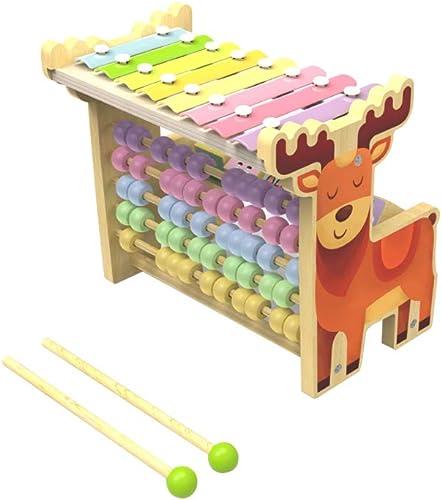 LINGLING-frapper au piano Fauve Frappant Xylophone Multifonctionnel Perle Musique Jouet Fille Male Jouet éducatif (Couleur   voituretoon)