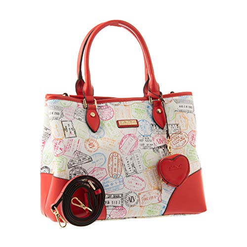 ALV by Alviero Martini - Shopping bag SUMMER PASSPORT with shoulder strap, waterproof and durable for woman