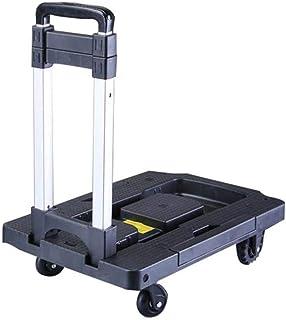 Carrito portátil Carrito de Equipaje Carrito de Compras Plegable Inicio (Color: Negro) (Color : Negro)