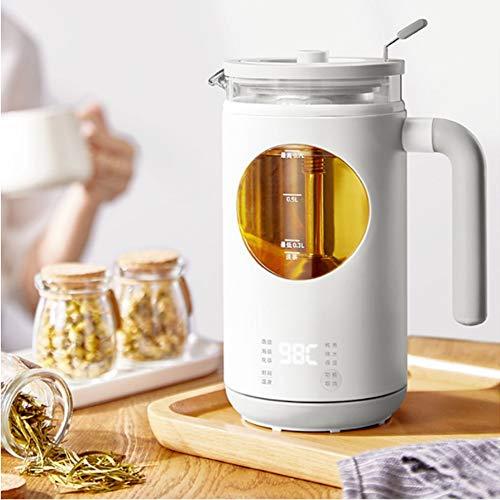Wasserkocher Glas, Teekocher, herausnehmbares Teesieb, Temperatureinstellung, Warmhaltefunktion, BPA-frei 0.7 Liter 600 Watt