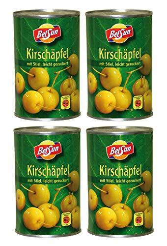 [ 4x 425g / 213g ] Kirschäpfel leicht gezuckert Baby Äpfel - Buffet Deko - Nachtisch