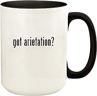 got arietation? - 15oz Ceramic Colored Handle and Inside Coffee Mug Cup, Black