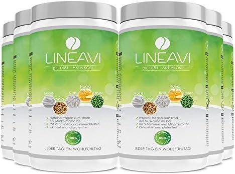 LINEAVI Alimento Dietético Activo, sustitutivos de comida por la perdida de peso, mezcla de proteínas de soja, guisante, arroz y suero de leche, sin ...