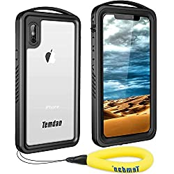 top 10 temdan waterproof case Waterproof case for iPhone X, waterproof case for iPhone Xs, shock resistant waterproof case of Temdan Supreme series …
