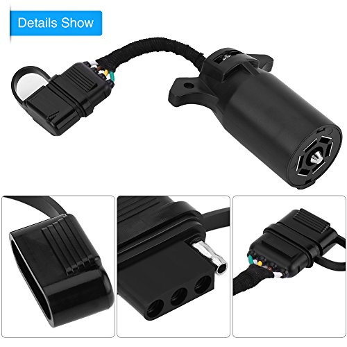 King Company 7 Pin to 6 Pin Blade Plug Converter Trailor Adapter Plug Connector Tow Bar Plug