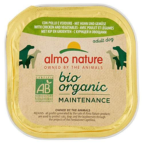 almo nature Bio Organic Maintenance con Pollo & Verdue Cibo Umido per Cani Adulti - Pacco da 9 x 300 g