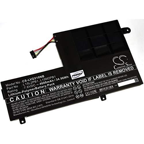 Powery Batería para portátil Lenovo Yoga 510-14IKB-80VB004DGE, 7,6V, Li-Polymer