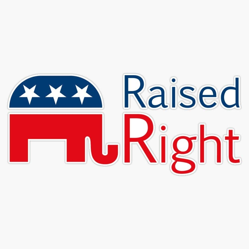 Republican - Raised Bombing new work Right Decal Bumper 5