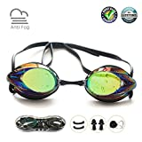 Swim Goggles, Swimming Goggles No Leaking Anti Fog UV Protection Shatterproof Professional...
