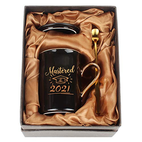 WHATCHA Mastered it 2021 Black Gold Funny Coffee Mugs Graduation Gifts...