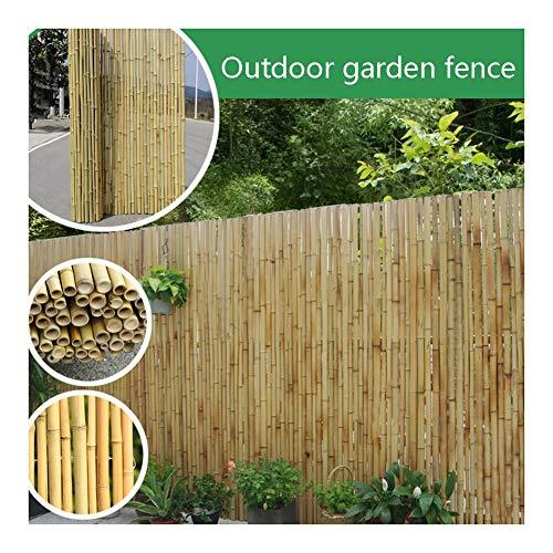 GDMING Valla De Bambú Pantalla De Privacidad del Balcón Impermeable Viento Protección UV para Balcón, Jardín, Piscina Antióxido Enlace De Alambre, 12 Tamaños (Color : Natural, Size : 1.2x3m)