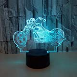 3D illusione luce notturna Cristallo per moto di Illuminazione Luce decorazioni Luci notturne Per comodino Bambini