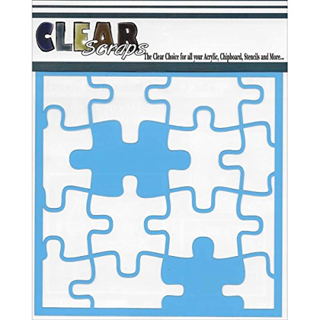 CLEARSNAP Clear Scraps Puzzle Stencils, 12 by 12