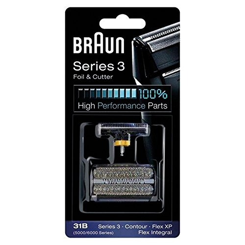 Braun 5000/6000FC- XP 31B Flex Integral Foil/Cutterblock Replacement Pack, Black by Braun