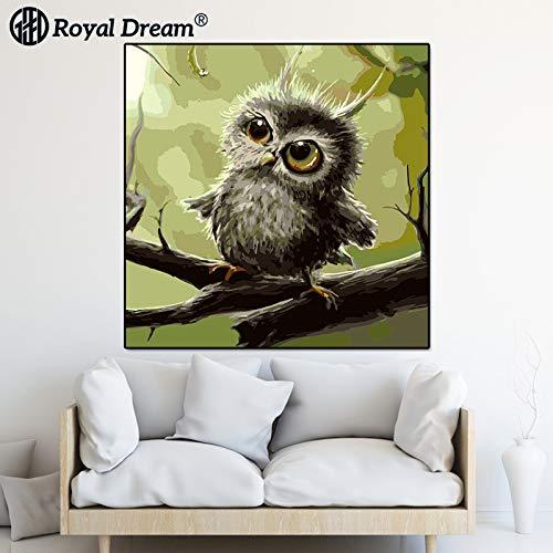 jzxjzx Frameless dierlijke olie schilderij woonkamer bank muur schilderij opknoping schilderij veranda decoratieve olie schilderij