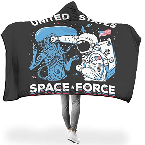 O5KFD & 8 Fledermuizendeken NASA US Space Force thema's gedrukt microvezel Wrap Sleeved deken met capuchon - Grappig Gift van een vriend te gebruiken