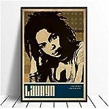 A&D Lauryn Hill Musik Sänger Poster Hip Hop Rap Musik Band