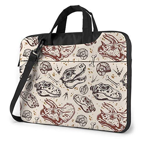 XCNGG Bolso de hombro Computer Bag Laptop Bag Carrying Laptop Case, Dinosaur Print Computer Sleeve Cover with Handle, Business Briefcase Protective Bag for Ultrabook, MacBook, Asus, Samsung, Sony, Not