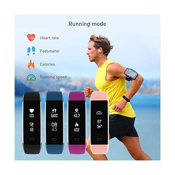 Fitpolo Pulsera Actividad, Impermeable IP68 Fitness Tracker Mujeres con Pulsómetro, Reloj Inteligente para Deporte… 6