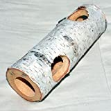 Juguete para roedores de madera, tronco de árbol hueco, 1500 x 50 x 60 mm, con 4 agujeros de 30 mm