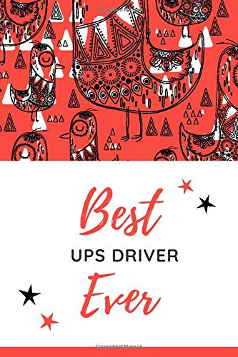 Best UPS Driver Ever: Christmas Card and Holiday Journal Gift All-In-One! / 6x9 Small Notebook For Writing / Red Bird Theme / UPS Driver Gift