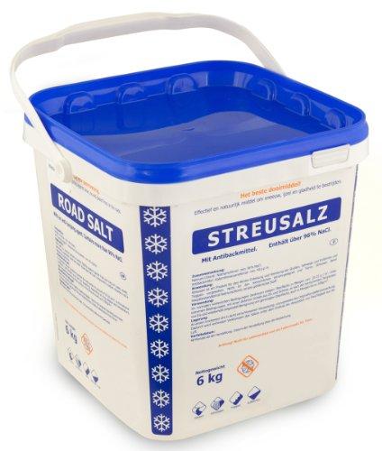 Preisvergleich Produktbild Streusalz Auftausalz Tausalz im 6 kg Eimer 96% NaCl