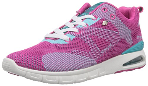 British Knights Demon, Baskets Basses Femme, Rose - Pink (Fuchsia/Turquoise 03), Taille 37
