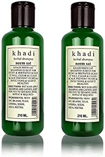 Khadi Herbal Shampoo Neem Sat, 210ml Pack Of 2 (Free Expedited Shipping Only)