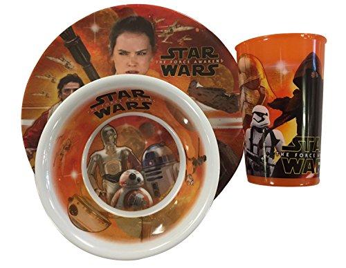 Star Wars - Vajilla de melamina para niños y niños (3 Piezas)