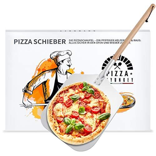 ANYUNKEY Pizzaschieber aus rostfreiem Aluminium Praktisches(83cm) Hochwertiger Pizzaschieber für perfekt gebackene Pizzen