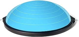 GLJJQMY Yoga Balance Ball Bola Pilates Balance Hemisphere Gym Exercise Advanced Explosion-Proof 3 Colors Massage Balance Ball (Color : A)