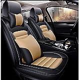 Juego Completo de Funda Universal para Asiento de Coche de Cuero PU (5 Asientos) con 2 Almohadas para la Cintura 2 Almohadas para reposacabezas para Audi A3 / a4 / a5 / a6 / A8 / q3 / q5 / R