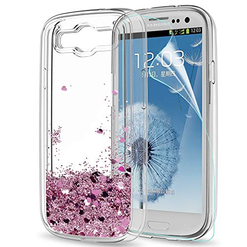 LeYi Case for Samsung Galaxy S3 with HD Screen Protector, Glitter Liquid...