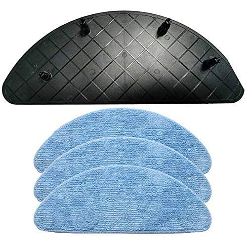 De Galen Piezas de repuesto para limpiadora, soporte para placa de fregona, soporte con paño de fregona, apto para Ilife V7 V7S Pro Plus, herramienta de limpieza para interiores (color: negro y azul)