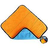 HuaXX Auto Waschhandschuhe Microfaser TüCher Mikrofaser Auto Reinigungstücher Mikrofaser-Autotrocknertuch Fusselfreies Mikrofasertuch orange Blue