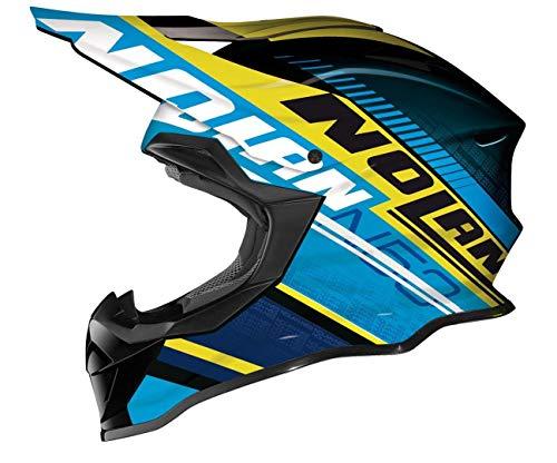 Nolan N53 Flaxy MX-Helm, Farbe blau-gelb-schwarz, Größe XS (53/54)
