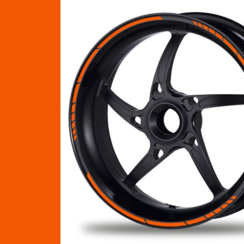 NEW! Felgenrandaufkleber GP Style Auto Motorrad Felgenaufkleber (orange)
