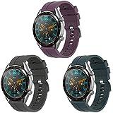 Supore Correa Compatible con Huawei Watch GT2 46mm/Watch GT 46mm/Watch GT Active/Watch 2 Pro/Honor Watch Magic/Galaxy Watch 46mm/Gear S3/Gear 2, Correa de Repuesto de Silicona de 22 mm
